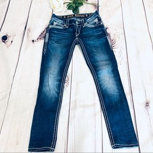 Rock Revival Johanna Skinny dark wash jeans